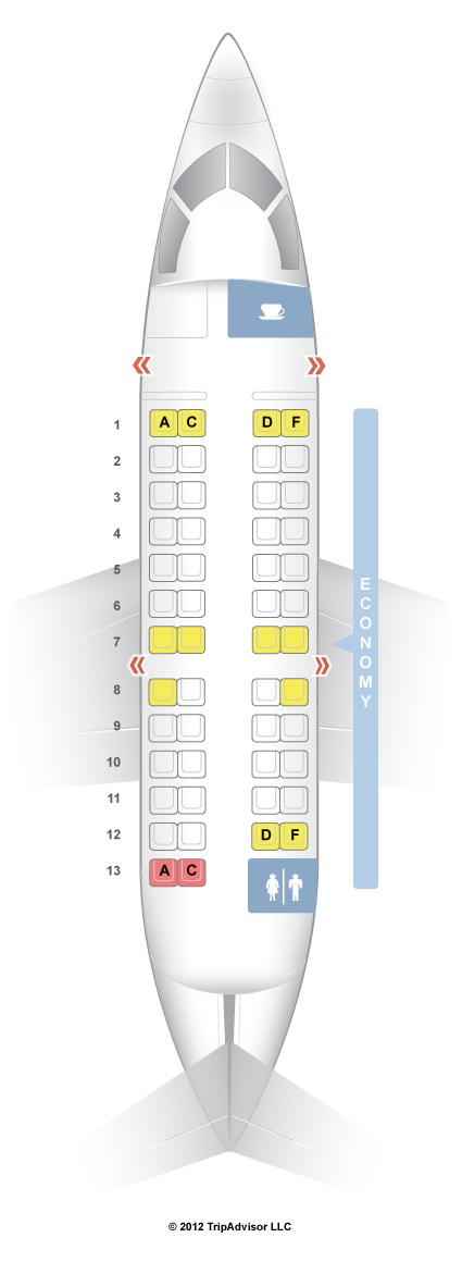 Seatguru Seat Map Us Airways Canadair Regional Jet Crj200