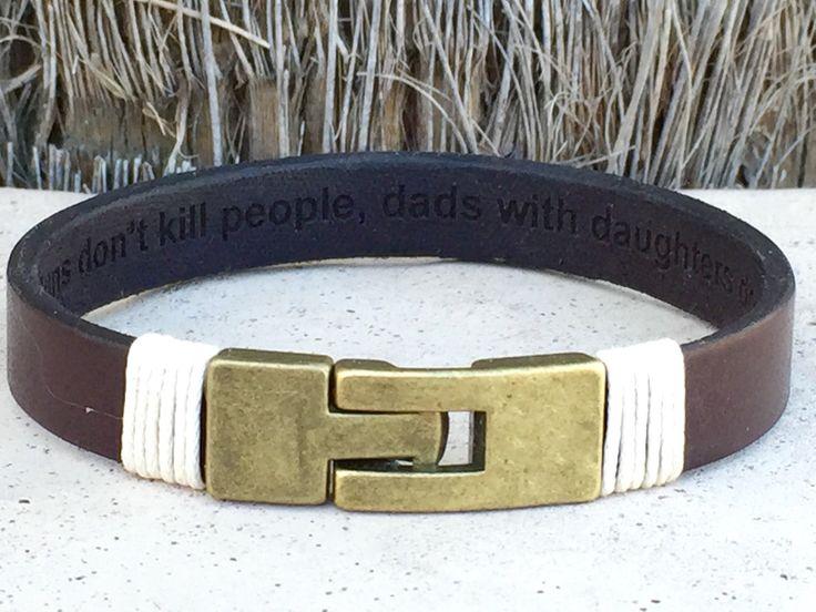 FREE SHIPPING-Hidden Message Bracelet,Staniless Steel Bracelet,Men Leather Bracelet,Men Personalized Bracelet,Custom Leather Bracelet