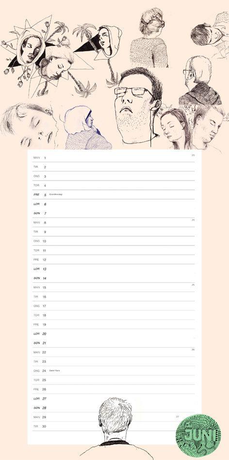 #Calendar 2015 . Buy it on #www.annebundgaard.dk #Happy2015.