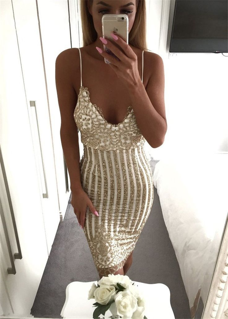 Gold Stripped Perfect Cocktail Dress for just $40.99. Apply code DREAM10 for 10% off + Free International Shipping #love #gold #dresses