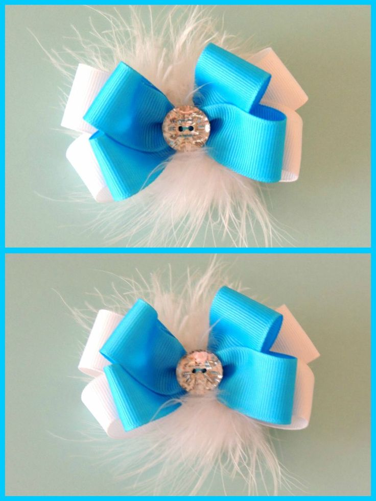 Ribbon and feather hair clip!