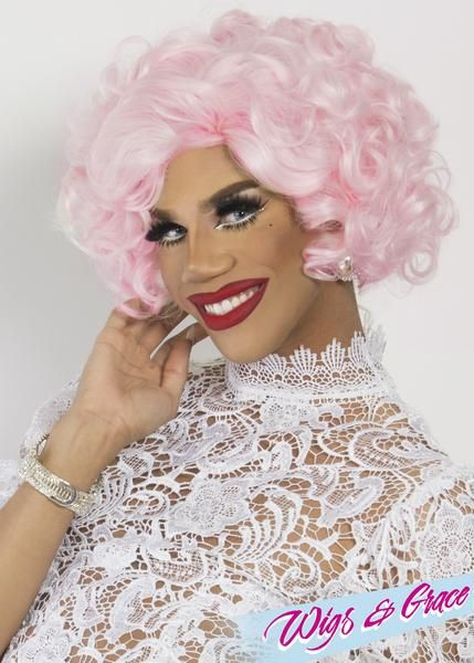 LEGALLY PINK HOLLY - Wigs and Grace , drag queen wig, drag queen, lace front wig, high quality wig, rupauls drag race wig, rpdr wig, kim chi wig