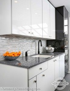 Plain Images Of Kitchen Back Splashes kitchen backsplash ideas Great Look For A Modern Kitchen Style White High Gloss Kitchen Cabinets From Plain And