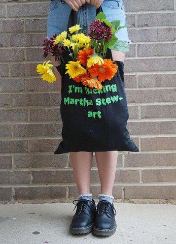 I'm Fu**g Martha Stew-art Tote Bag - LiTTLE RAMONAS