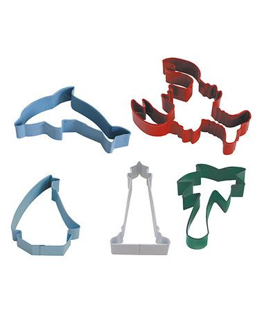 Loving this Beach Cookie Cutter * dolphin, lighthouse, sailboat, lobster & palm tree!!