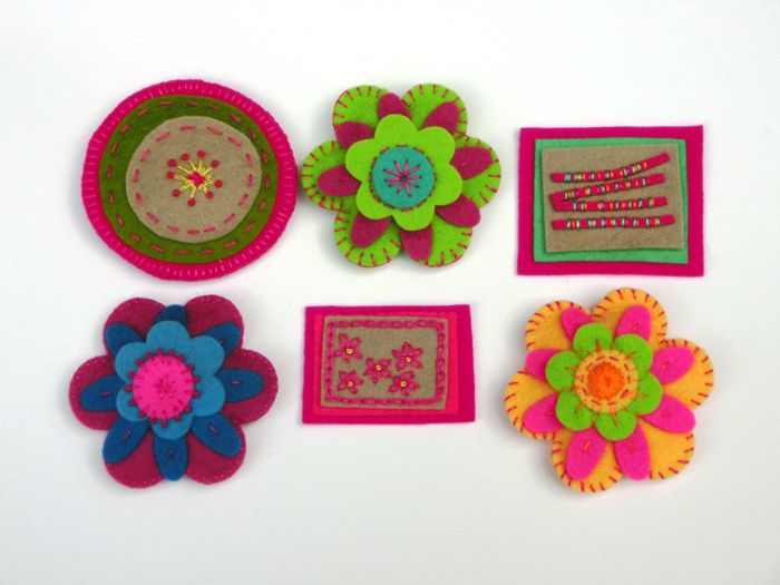 Felt brooch web 3 | clever crafts | Pinterest