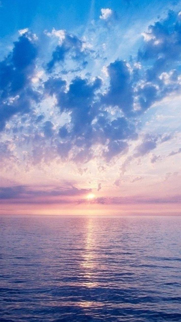 Nature Fantasy Purple Sunrise Scene Over Sea iPhone 6