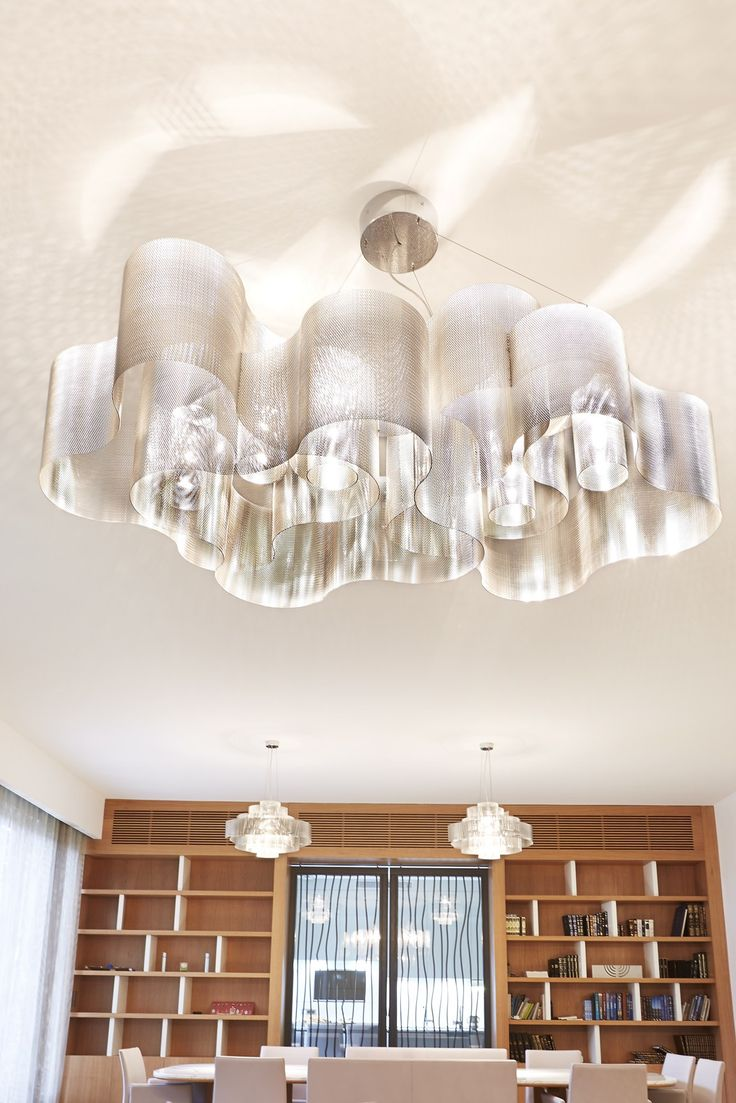 Clear glass modern murano chandelier l16k white lamp shades - Thierry Vid Weightlessness Transparency And Light Nuage Collection At Light Building 2016