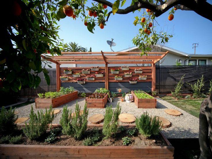 Cute Moderner Sichtschutz garten pergola holz hochbeete zinkpflanzk bel holzscheiben