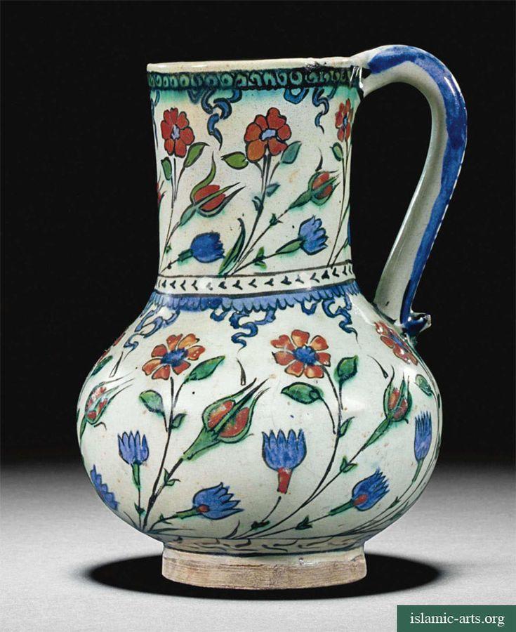 Iznik polychrome pitcher. Turkey circa 1575.