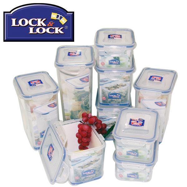Lock N Lock 9 Piece Rectangular Pantry Pack