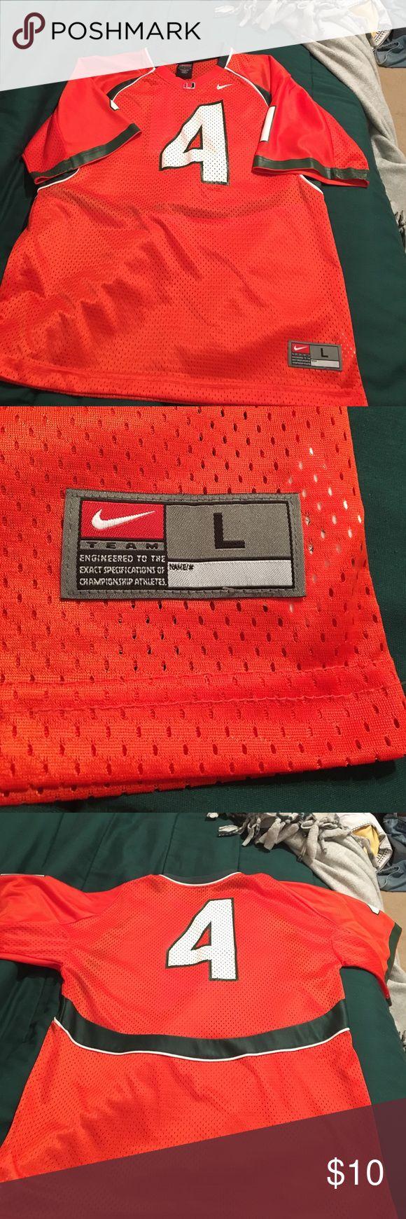 Miami Hurricanes football jerseys #4 Miami Hurricanes football jersey, in great condition, nice looking jersey. Nike Other