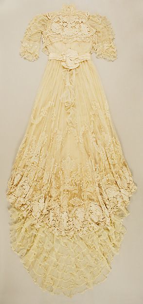 Wedding dress Irish Crochet Lace