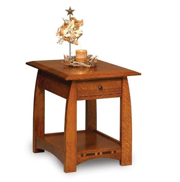 Amish Boulder Creek End Table Quick Ship In 2020 End Tables With Drawers Wood Table End Tables