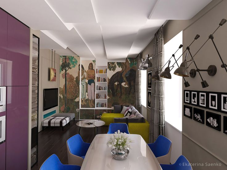 дизайн интерьера французский стиль, авангард в интерьере