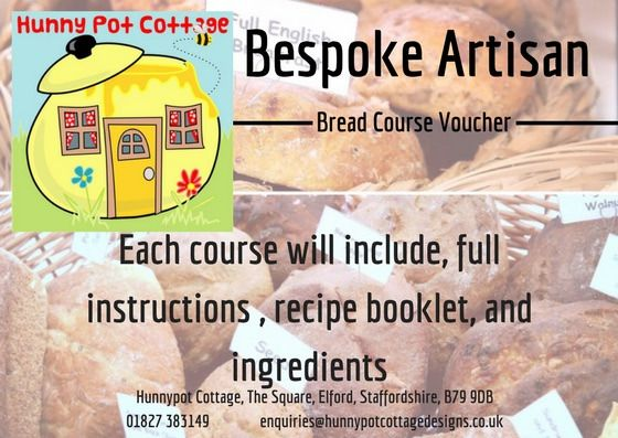 Poster – Our bespoke artisan bread making courses take place in the comfort of your own home do that we can guide you on any adjustments that may be necessary for your oven, including an AGA.