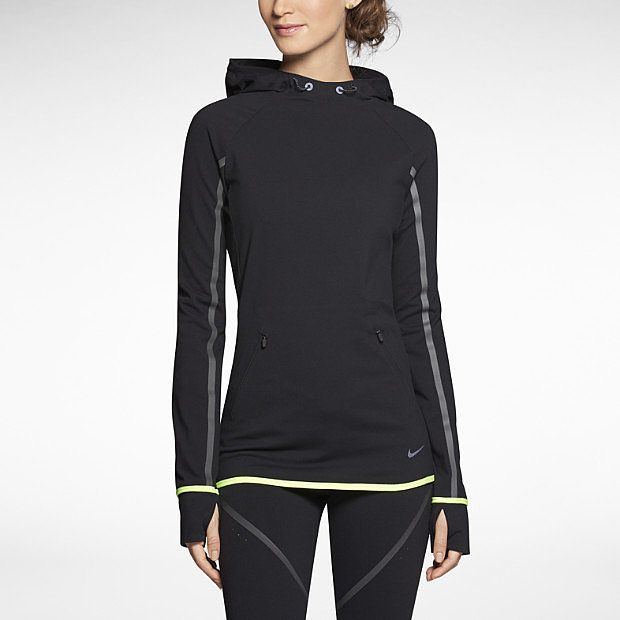 Made for cold Winter nights, the Nike Premium Pullover ($150) features a longer length and thumbholes to help keep you covered as well as strategic reflective strips on the sleeves and back to ensure you're seen.