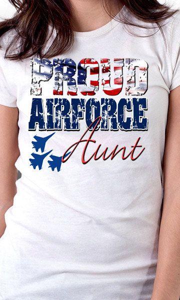 Orgogliosa Aviazione Zia Manica Lunga T-shirt LXLrrQpA1