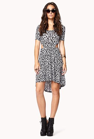 $22.80 | Leopard Print High-Low Dress | FOREVER21 - 2079646932
