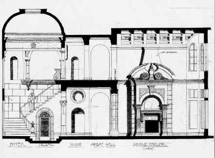 Compare The Design Of Fireplace In Interior Drawing Above To Finished Piece Photo Middle Top Left