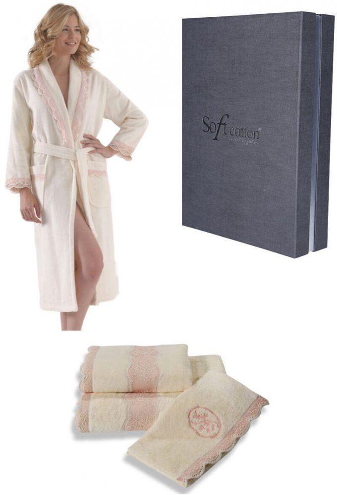 BUKET női fürdőköpeny + törölköző + fürdőlepedő + ajándékdoboz ... 469ff84078