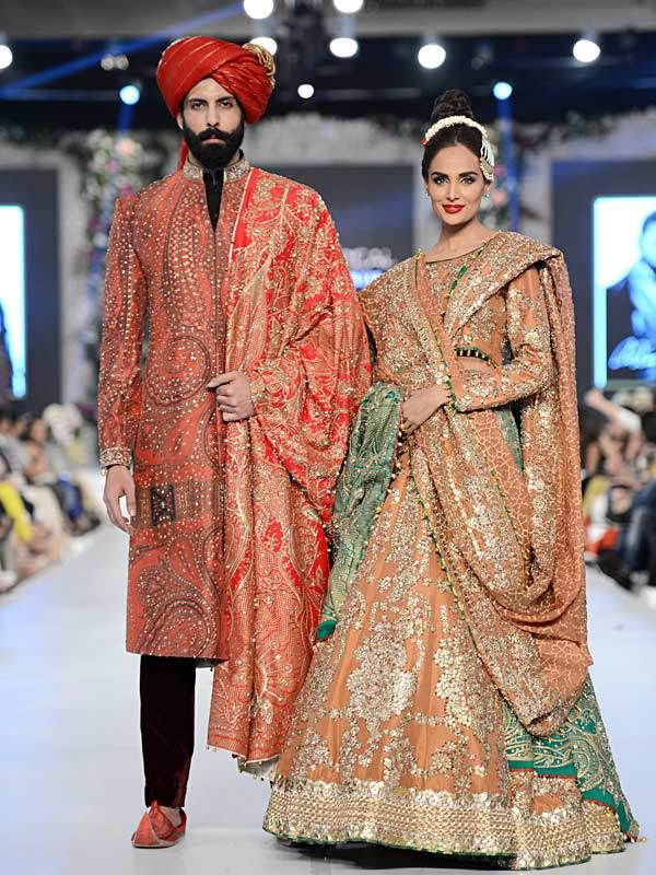 Stunning creation by Ali Xeeshan seen at PFDC L'Oréal Paris Bridal Week 2015 #PFDC2015 #Frugal2Fab