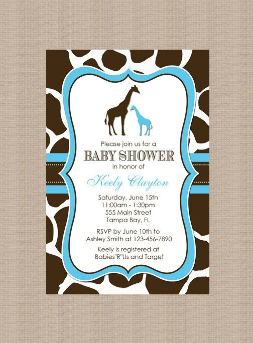 giraffe baby showers giraffe baby and baby shower invitations on