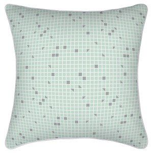 Mint, White & Grey Cushion Cover