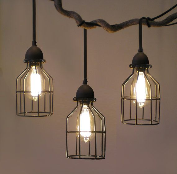 Tesla I Industrial Cage Pendant Lamp With Plug In Cord  Industrial Pendant Lighting