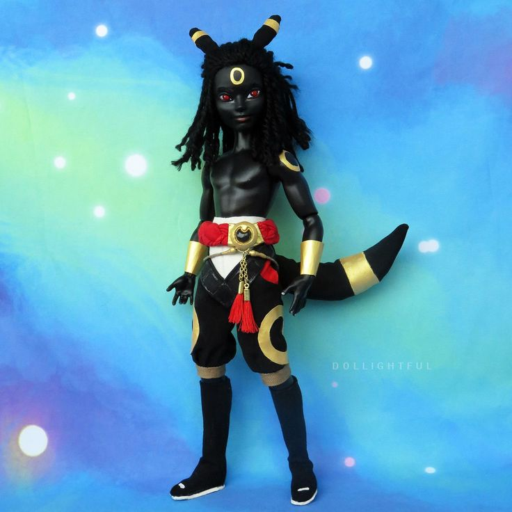Umbreon Ever After High Custom Male Pokemon Doll by Dollightful