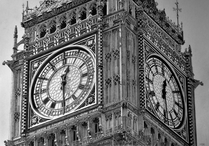 Big Ben. Keith More hyperrealistic pencil drawing A3 size.