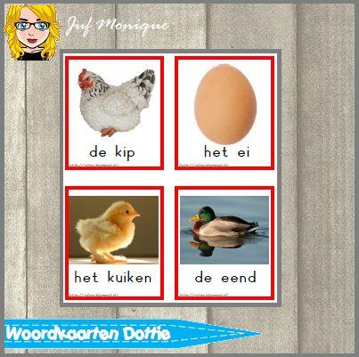 Woordkaarten bij het boek Dottie's eieren. Alle dieren die terug komen in het boek! Speciaal voor taalonderwijs! Onderdeel van een complete verteltafel zie meer FREE printables op mijn blog!
