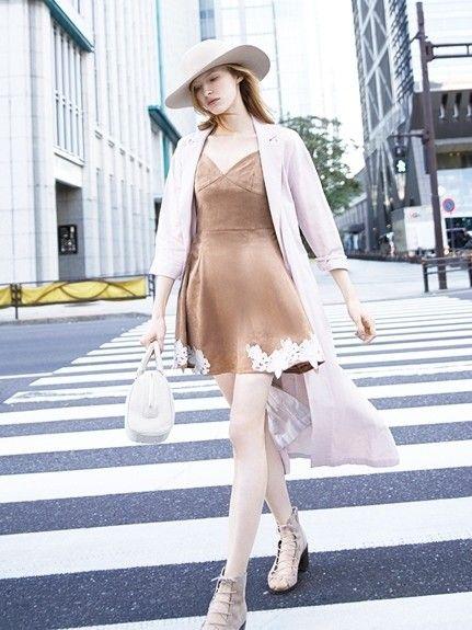 春らしく♡ガウントレンチコートのコーデ、スタイル・ファッションの着こなし♪
