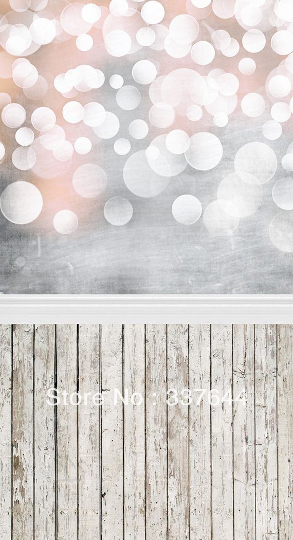 Thin Vinly Photography Backdrop Bokeh Wood Floordrop