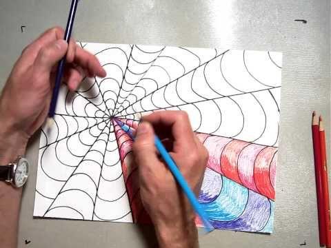 P1 2 Op Art Coloring A B Pattern - YouTube