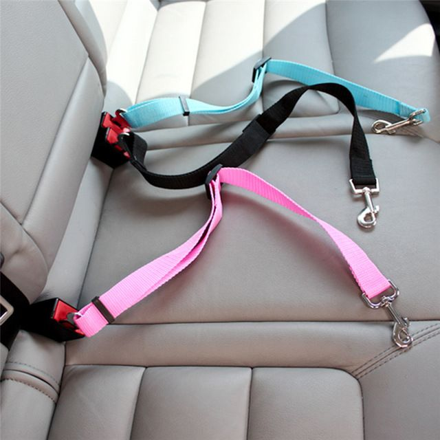 5 Color Dog Pet Leash Plomo Arnés de Sujección Viajes Safety Car Seat Belt Clip Envío Gratis