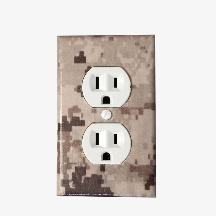 Light Switch Cover - USMC decor - USMC gifts - Camo Switch Plate - Camo nursery - Camo decor - Military decor - US marines - Marine corps
