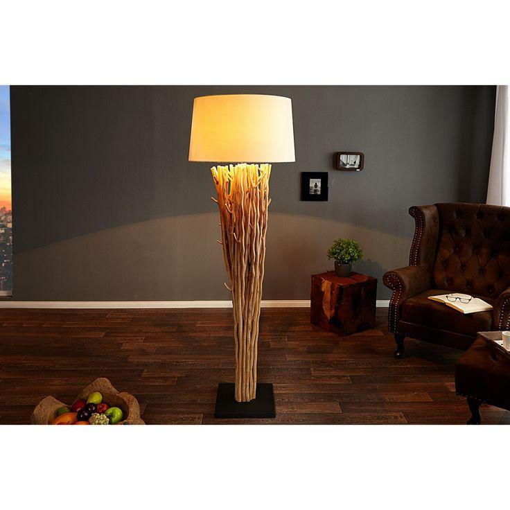 Stojaca lampa  Rozmery: Ø55cm  Výška: 175cm  Material: Látka, Naplavené prírodné drevo, Podstavec čierny kov  Tienidlo: Biela látka  Svetelný zdroj: 1 x E27 max 60W  Táto lampa má verzie pre žiarovky triedy ener