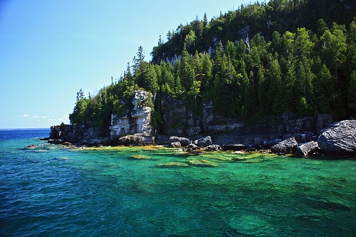 Fathom Five National Marine Park, Canada, on the  Georgian Bay