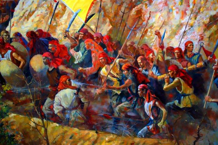 Taiping Heavenly rebels charging into battle, Taiping Rebellion, China