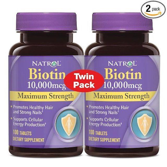 The 5 Best Brands of Biotin Pills to Increase Hair Growth: Natrol Biotin Maximum Strength Tablets, 10,000 mcg