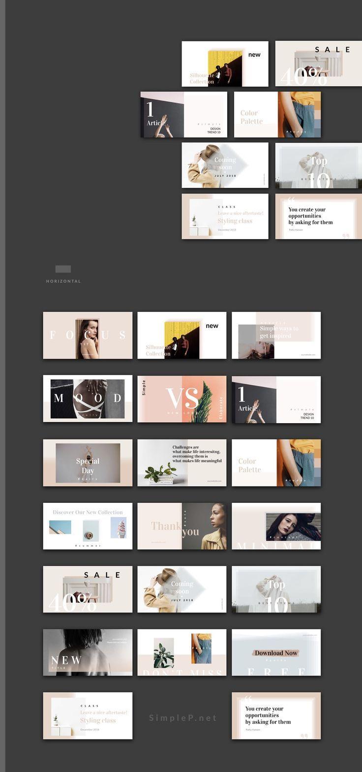 Silhouette Horizontal Social Media Design #pack #template #facebook