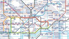 VIAJAR A LONDRES - METRO de LONDRES, PLANO del METRO