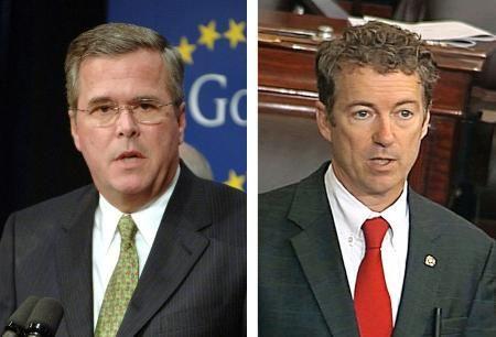 ジェブ・ブッシュ元フロリダ州知事(UPI=共同)、ランド・ポール上院議員(AP=共同) ▼2May2014共同通信|弟ブッシュ氏が首位に 共和党の次期大統領候補 http://www.47news.jp/CN/201405/CN2014050201001162.html #Republican_Party #GOP #Jeb_Bush #Rand_Paul