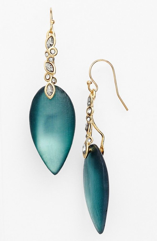 Alexis Bittar 'Lucite® - Imperial' Drop Earrings in Teal Blue