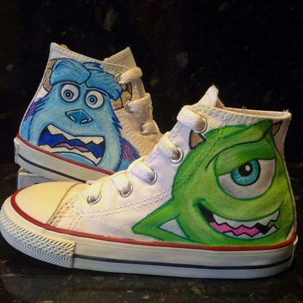 Monsters Inc Custom Converse by VeryBadThing.devi... on deviantART I want Them :)