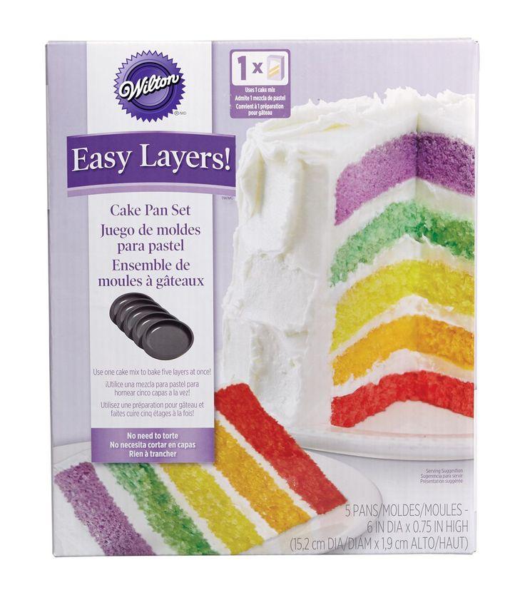 """Wilton Easy Layers! Cake Pan Set 5/Pkg-6""""null"""