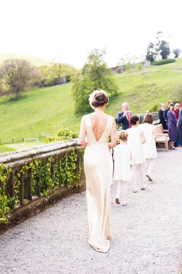 A 1940s Inspired Silk Wedding Dress For A Relaxed and Elegant Wedding...