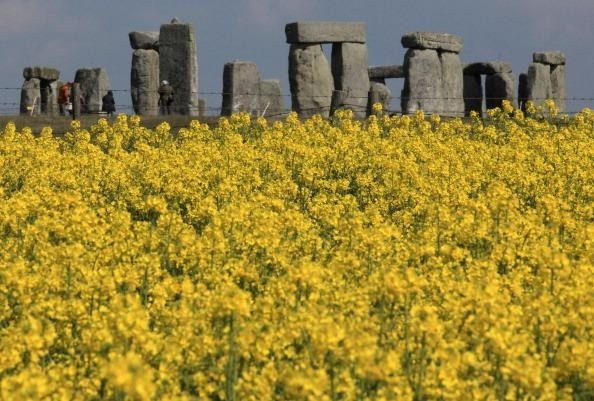 Archaeologists believe Stone Henge was constructed from 3000 BC to 2000 BC it's a mystery how this feat was achieved. Located in Wiltshire in the UK.