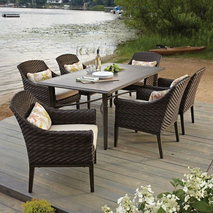 Elijah 7 Piece Dining Set With Premium Sunbrella Fabric   Samu0027s Club